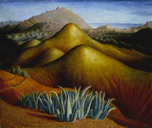 Spanish Landscape with Mountains circa 1924 by Dora Carrington 1893-1932