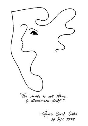 Drawing by Joyce Carol Oates, courtesy