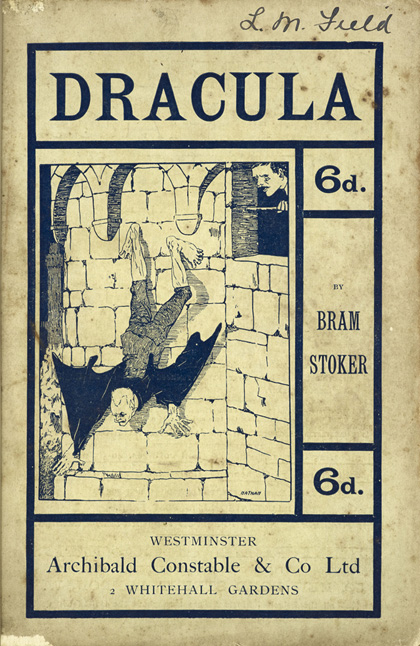 The first illustration of Dracula, Archibald Constable & Co., 1901. Photo courtesy of the British Library