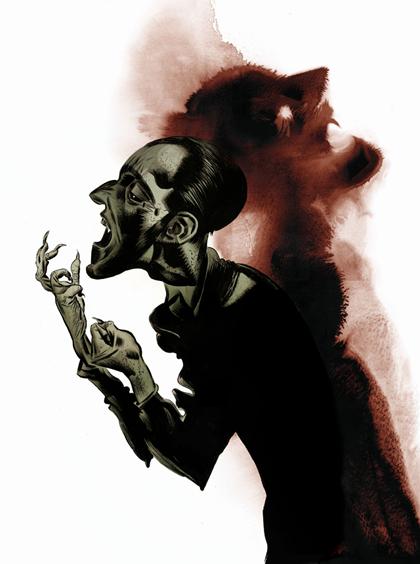 Dave McKean's brand new artwork for <em>Terror and Wonder: The Gothic Imagination</em>