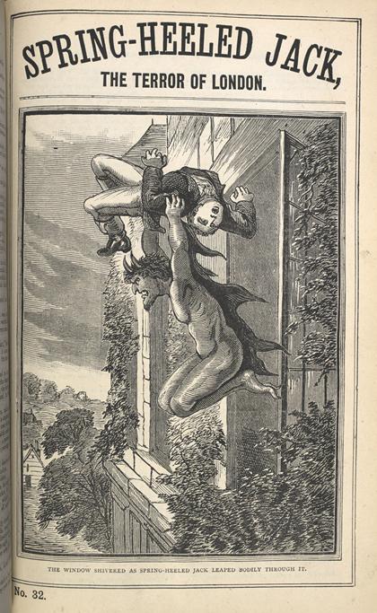 <em>Spring-Heeled Jack</em>, Penny Dreadful No. 32, 1863. Photo © British Library Board