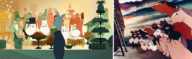 <em>Moomins on the Riviera</em>, <em>Animal Farm</em>