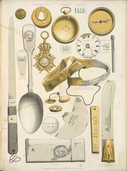 Artefacts found on the search for Franklin and his crew, Walter William May. London, 1855