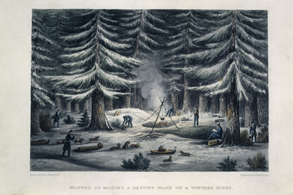 Engraving by Edward Finden after a drawing by George Back, from John Franklin's <em>Narrative of a Journey to the Shores of the Polar Sea, in the Years 1819, 20, 21, and 22</em>. London, 1823