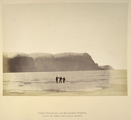 Cape Prescott, 8 August 1875. Photograph taken during the British Arctic Expedition of 1875–76