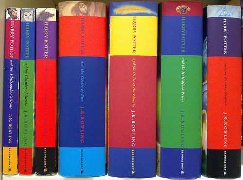 Australian editions of the seven Harry Potter books. B. Davis/Wikimedia Commons