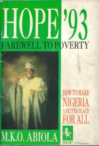 M.K.O. Abiola's 1993 election manifesto. Wikimedia Commons