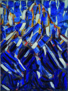 <i>Abstraction (the Blue Mountain)</i> by Christian Rohlfs, 1912. Museum Kunstpalast, Düsseldorf/Wikimedia Commons