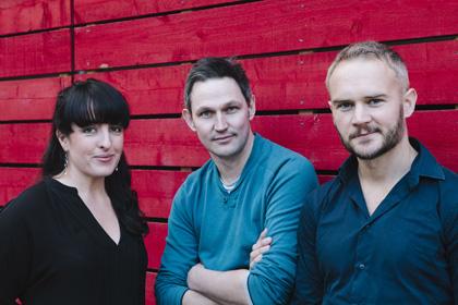 Emma Brünjes, James Seager and Oliver Lansley, producer and directors of <i>Alice's Adventures Underground</i>