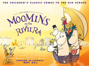 <i>Moomins on the Riviera</i> UK film poster