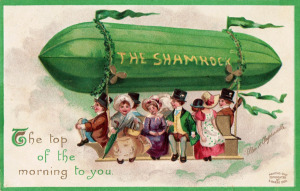 St Patrick's Day postcard, International Art Publishing Co., New York, 1908. Illustration by Ellen Clapsaddle. eBay/Wikimedia Commons