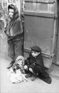 Street children in the Warsaw Ghetto, 21 June 1941 photographed by Albert Cusian. German Federal Archives/Wikimedia Commons