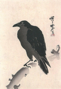 <i>Crow on a Branch</i> by Kawanabe Kyōsai. Artlino Archive/Wikimedia Commons