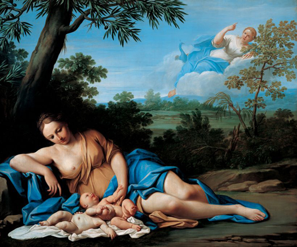 <i>The Birth of Apollo and Diana</i> by Marcantonio Franceschini, 1692–1709. Liechtenstein Museum/Wikimedia Commons