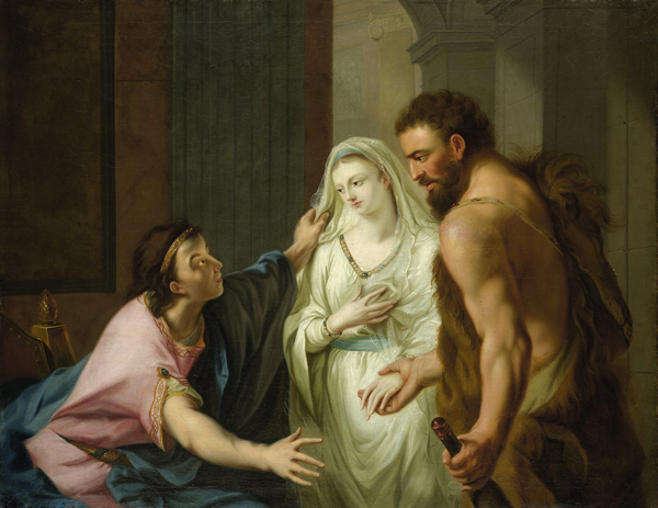 Herakles snatches Alcestis from Death and returns her to Admetos. Johann Heinrich Tischbein, <i>c</i>. 1780/Wikimedia Commons