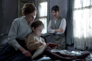 Carey Mulligan (Maud), Adam Dodd (George) and Ben Whishaw (Sonny) in <i>Suffragette</i> © Steffan Hill/Pathé