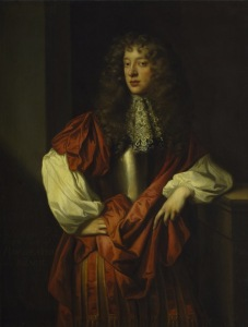 Portrait of John Wilmot, 2nd Earl of Rochester by Peter Lely, <i>c</i>. 1677.  V&A