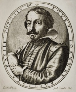 17th-century engraving of Giambattista Basile by Nicolaus Perrey, after Jacobus Pecini. Wikimedia Commons