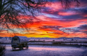 Day's end at Nine-pipe National Wildlife Refuge, Montana. Dave Fitzpatrick/USFWS