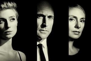 Elizabeth Dubicki, Mark Strong and Hope Davis, <i>The Red Barn</i>, National Theatre