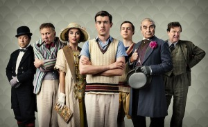 Stephen Graham as Philbrick, Eva Longoria as Margot Beste-Chetwynde, Vincent Franklin as Prendergast, Jack Whitehall as Pennyfeather, Oscar Kennedy as Peter Beste-Chetwynde, David Suchet as Dr Fagan and Douglas Hodge as Captain Grimes. Robert Viglasky, BBC/Tiger Aspect