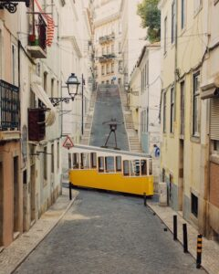 Ascensor da Bica, Lisbon, Portugal, <em>c</em>. 1892 © Jack Spicer Adams. Accidentally Wes Anderson