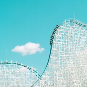 The White Cyclone at Nagashima Spa Land, Kuwana, Japan, <em>c</em>. 1994 © Paul Hiller. Accidentally Wes Anderson