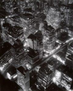 ",em>Nightview, New York</em> by Berenice Abbott, 1932. <a href=""https://www.metmuseum.org/art/collection/search/259570"" target=""_blank"" rel=""noopener"">Metropolitan Museum of Art</a>"